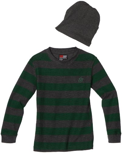 Southpole - Kids Boys 8-20 Stripe Thermal Jacket with Beanie, Bright Green, X-Large