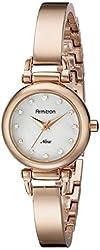 Armitron Women's 75/5269MPRG Swarovski Crystal Accented Rose Gold-Tone Bangle Watch