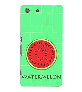 Watermelon Pattern 3D Hard Polycarbonate Designer Back Case Cover for Sony Xperia M5 Dual :: Sony Xperia M5 E5633 E5643 E5663