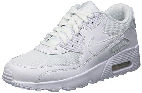 Nike Air Max 90 Mesh (Gs), Scarpe da Ginnastica Bambini e Ragazzi, Bianco, 39 EU