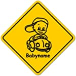 Road Sign Baby Schild mit Saugnapf -...