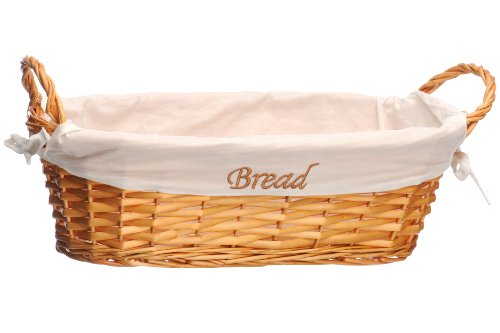 Premier Housewares Wicker Bread Basket with Natural Inner photo