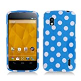 Aimo LGE960PCPD302 Trendy Polka Dot Hard Snap-On Protective Case For LG Nexus 4 E960 - Retail Packaging - Light...