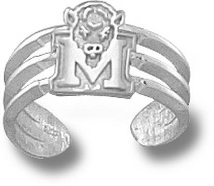 Marshall Thundering Herd Sterling Silver ''M'' Marco Toe Ring