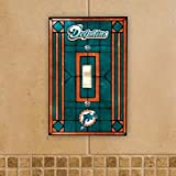 Miami Dolphins Stained Glass Light Switch Cover