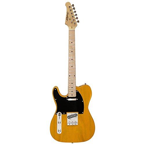 Sawtooth St-Et50-Lh-Bsb Classic Et 50 Ash Body Left-Handed Electric Guitar - Butterscotch With Black Pickguard
