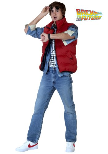 Adults Back to the Future Marty McFly Costume - S to 2XL