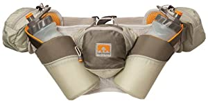 Nathan Elite 2V Plus Dual 22-Ounce Cradled Hydration Waist Pack with Cargo Pocket