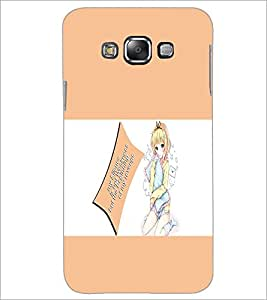 PrintDhaba Doll With Quote D-1125 Back Case Cover for SAMSUNG GALAXY A7 (Multi-Coloured)