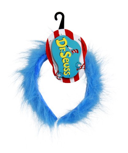 elope Cat in the Hat Thing 1 and Thing 2 Fuzzy Head Band, Blue, One Size