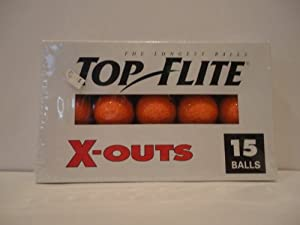 Top-Flite X Out 15 Golf Balls Orange by Top Flite