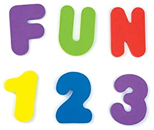 Munchkin Bath Letters and Numbers Assorted Colors - 72 Count