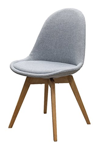 designbotschaft: Davos Stuhl Grau/ Eiche - Esszimmerstühle 1 Stck