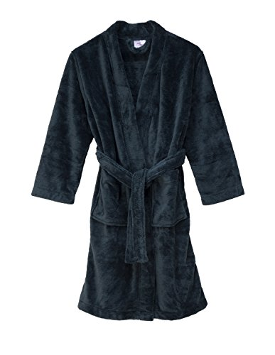 Soft fleece belted wrap bath robes for boys and girls by Leveret, Inc.