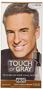 Touch of Gray Men's Hair Color, Light & Medium Brown (Pack of 3)