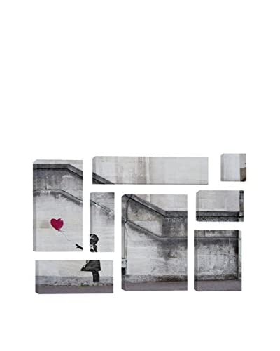 Banksy There Is Always Hope Balloon Girl 8-Piece Giclée On Canvas