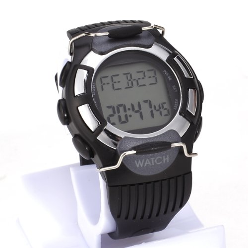 EL Backlight LCD Quick Touch Technology ECG Strapless Heart Rate Monitor Pulse Watch Calorie Calculator