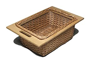 Hafele Basket Wicker, with Beech frame, 363x540x200mm, Runners sold separately