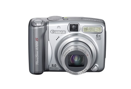 Canon PowerShot A720 IS is one of the Best Point and Shoot Digital Cameras for Travel, Action, and Low Light Photos Under $200
