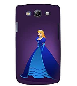 Printvisa Princess In A Blue Dress Back Case Cover for Samsung Galaxy S3 Neo::Samsung Galaxy S3 Neo i9300i