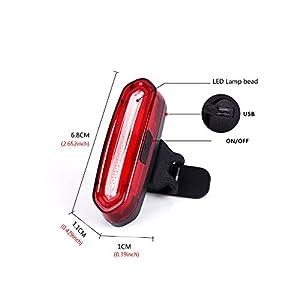Xcellent Global Bicycle Rücklicht für Mountain Bike oder auch Sturzhelm zu befestigen. Via USB aufladbar mit 120 Lumen, Rot + Blau by Xcellent Global