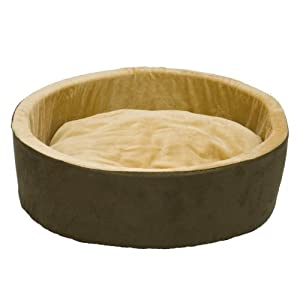 K&H Thermo-Kitty Heated Cat Bed, 16-Inch, Mocha