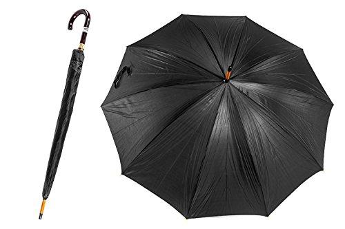 Ombrello uomo LORENZO lungo golf apertura manuale 10 stecche nero Q510