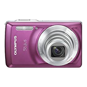 Olympus Stylus 7030 14 MP Digital Camera with 7x Wide Angle Dual Image Stabilized Zoom and 2.7-inch LCD (Purple)