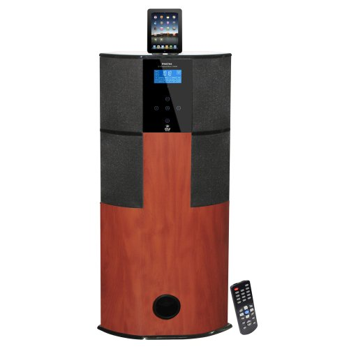 Pyle Home PHST94IPCW 600 Watt Digital 2.1 Channel Home Theater Tower with Docking Station for iPod/iPhone/iPad (Cherry Wood)