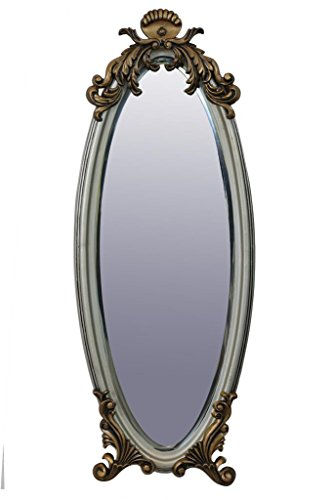 999Store Handmade Silver Coated Metal Decorative Bevelled Wall Mirror Bathroom Mirror Antique Royal Finish