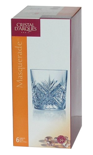 Cristal D'arques Diamax Masquerade Crystal Mixer Tumbler, 30cl, Set of 6
