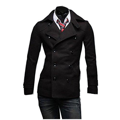 Мужское двубортное осеннее пальто