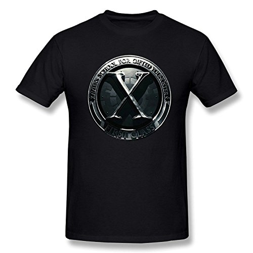 SEagleo Men's X-Men: Apocalypse Metal Logo T-shirts Medium