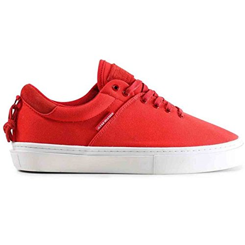 Clear Weather Ninety-Red Cherry Low Top Canvas Sneaker Size 7 US Men, 8.5 US Women
