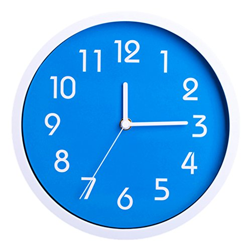 Kitchen/Living Room Wall Clock 10 Inches (Blue)