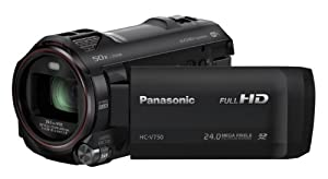 Panasonic HC-V750EB-K Full HD Camcorder - Black (24MP, 50x Intelligent Zoom, Wi-Fi, NFC) (New for 2014)