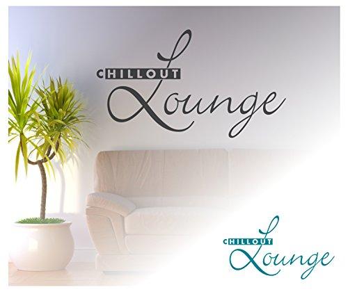 exklusivpro wrt08 wandtattoo zitat chillout lounge inkl rakel t rkisblau 100 x 57 cm mit farb. Black Bedroom Furniture Sets. Home Design Ideas
