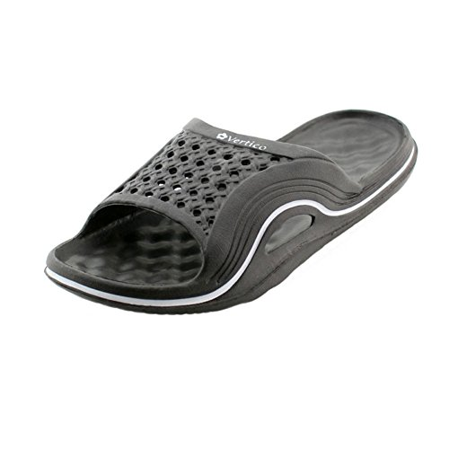 Vertico Slide-on Women's Shower and Poolside Sandal (9/10, Black)