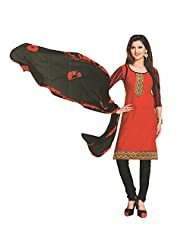 Siddhi Unstitched Cotton Printed Salwar Suit Dupatta Material ( SSMLY-40AA )