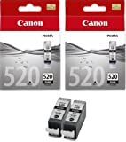 2 Canon Pixma MP980 Original Printer Ink Cartridges - Large Black