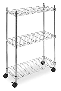 Whitmor 6056-53 Supreme Laundry Cart, Chrome