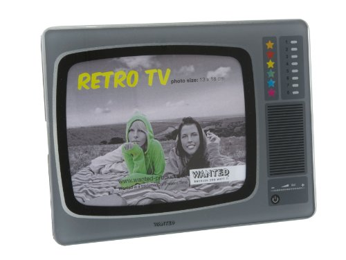 Retro 1980s TV Glass Photo Frame