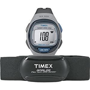 Timex Unisex Quartz Watch with LCD Dial Digital Display and Black Resin Strap T5K738F7