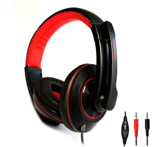 Zps New Kinbas Stereo Headset Headband Pc Notebook Gaming Headset With Microphone Black