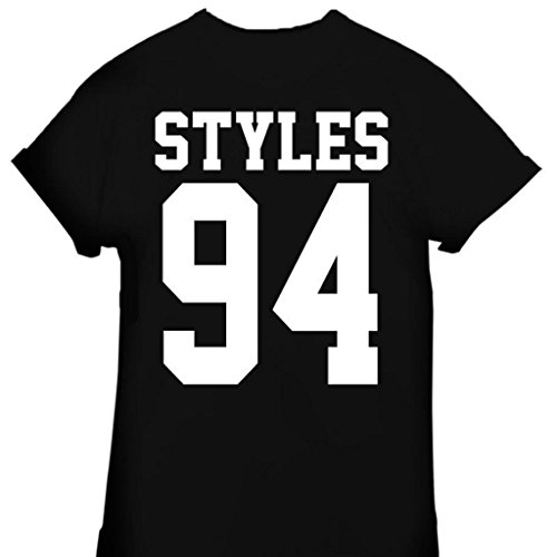 Tsh-Us Women's Harry Styles 94 One Direction 1D Zayn Malik T-Shirt Large Black (Style Directions For Women compare prices)