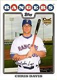 2008 Topps Update Baseball #UH231 Chris Davis Rookie Card