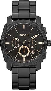 Fossil - FS4682 - Montre Homme - Quartz Analogique - Chronomètre - Bracelet Acier Inoxydable Noir