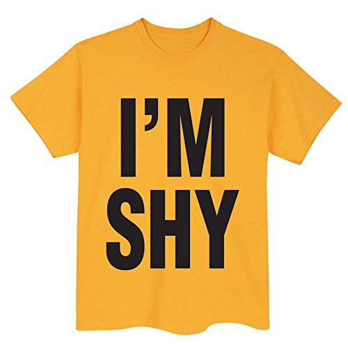 Unisex-Adult I'm Shy Yellow T-Shirt – Xl