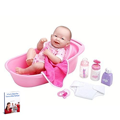 Baby Girl Doll,Realistic Reborn Newborn Lifelike, Non Toxic Soft Vinyl Anatomically Correct,8 Piece Complete Bath Gift Set Children Ages 2 or Older & eBook by Easy2Find