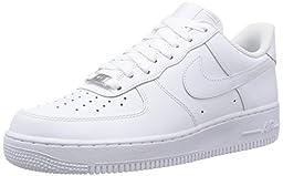 Nike Men\'s  Air Force 1 \'07 Shoes 315122 White/White 10.5